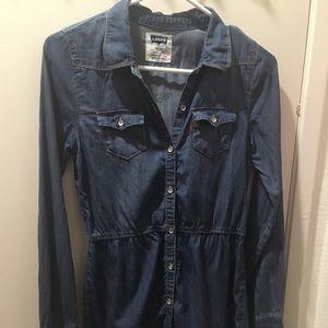 Levi's shirt dress